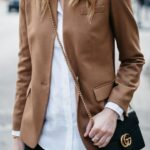 Outfits con blazers marrón casuales