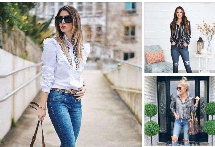 Outfits con camisas de cuadros para mujeres maduras