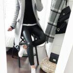 Outfits de invierno con pantalón de vinipiel