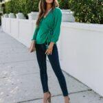 Blusas en color verde para primavera