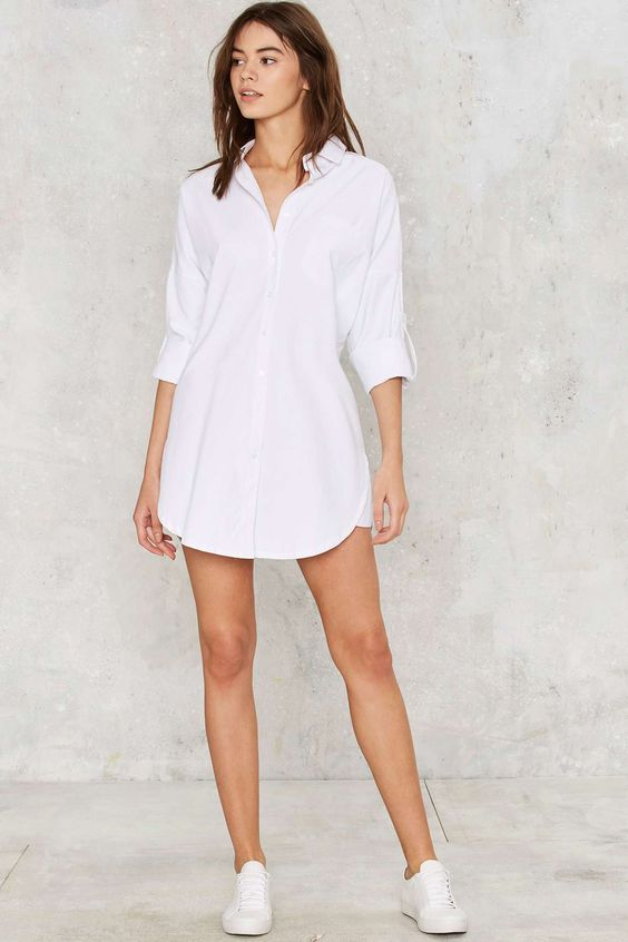 Camisas blancas como vestido