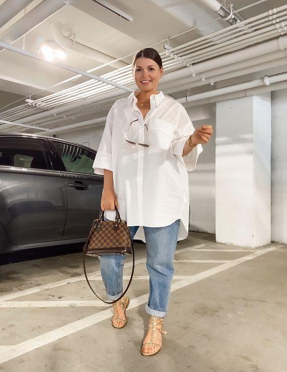 Camisas blancas oversized