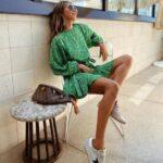 Diseños de vestidos en color verde de moda
