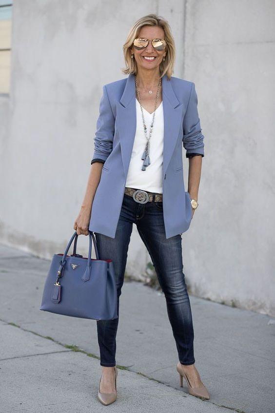 Ideas de looks con blazer para mujeres de 40