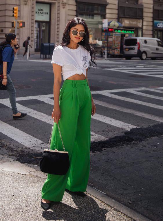 Ideas de looks formales color verde