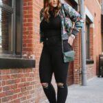 Ideas de outfits con jeans negros plus size