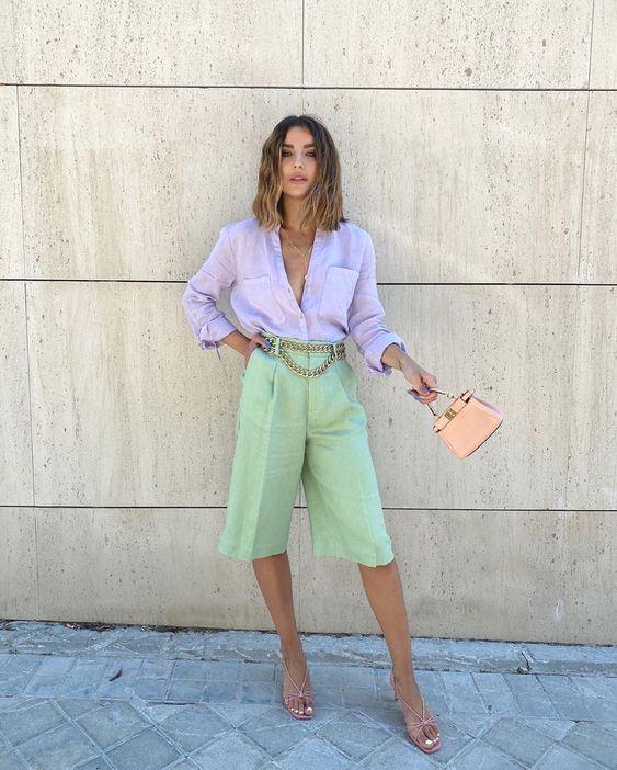 Ideas de outfits en colores pastel 2021