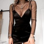 Ideas de vestidos de fiesta negros con transparencias