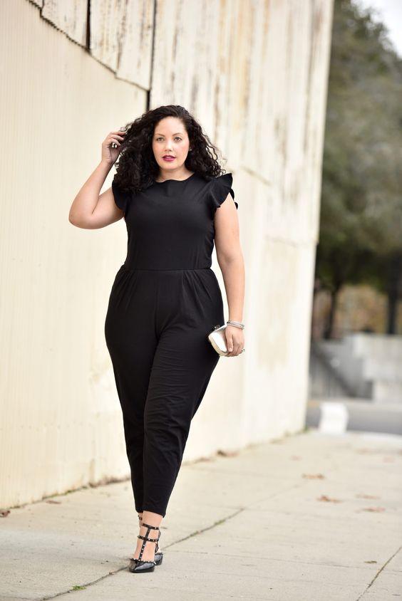 Jumpsuits negros para chicas curvy