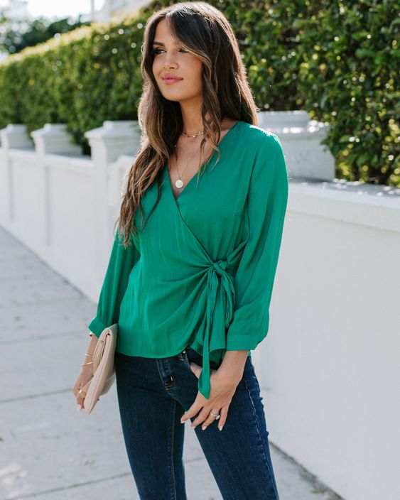Looks casuales color verde