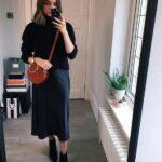 Looks con faldas de satin para mujeres de 40 otoño - invierno