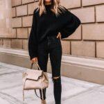 Looks con jeans negros para mujeres maduras