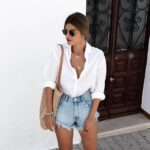 Looks de camisa blanca con shorts de mezclilla