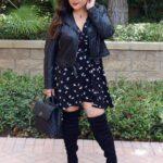 Looks elegantes y modernos en negro para chicas curvy