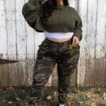 Outfits camo para chicas plus size
