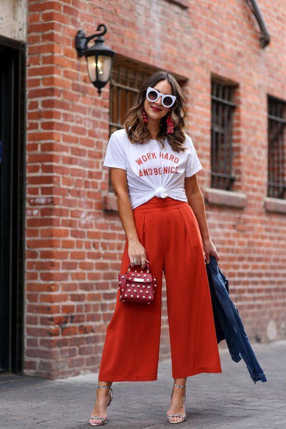 Outfits color naranja para primavera - verano