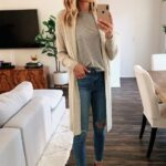 Outfits con cardigan beige