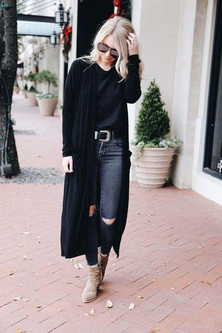 Outfits con cardigans negros
