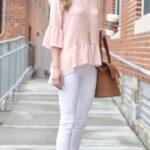 Outfits con jeans blancos para primavera