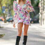 Outfits con vestidos de mangas abombadas