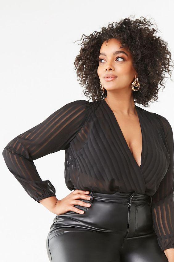 Outfits de fiesta en color negro plus size