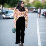Outfits elegantes con mangas abombadas para mujeres maduras