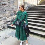 Prendas en color verde para mujeres maduras