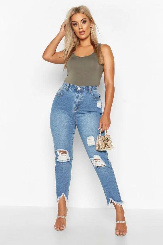 Usa jeans de corte alto