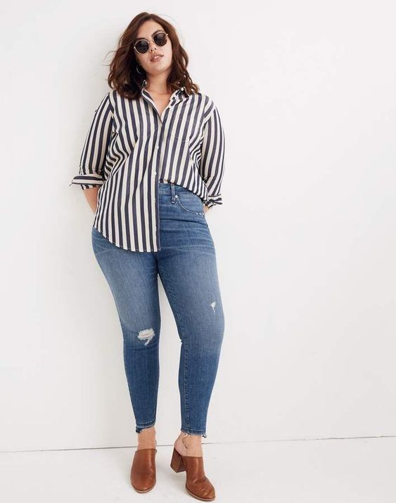 Utiliza jeans de corte alto