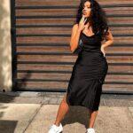 Vestidos de fiesta color negro para chicas plus size