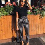 Vestir con rayas verticales