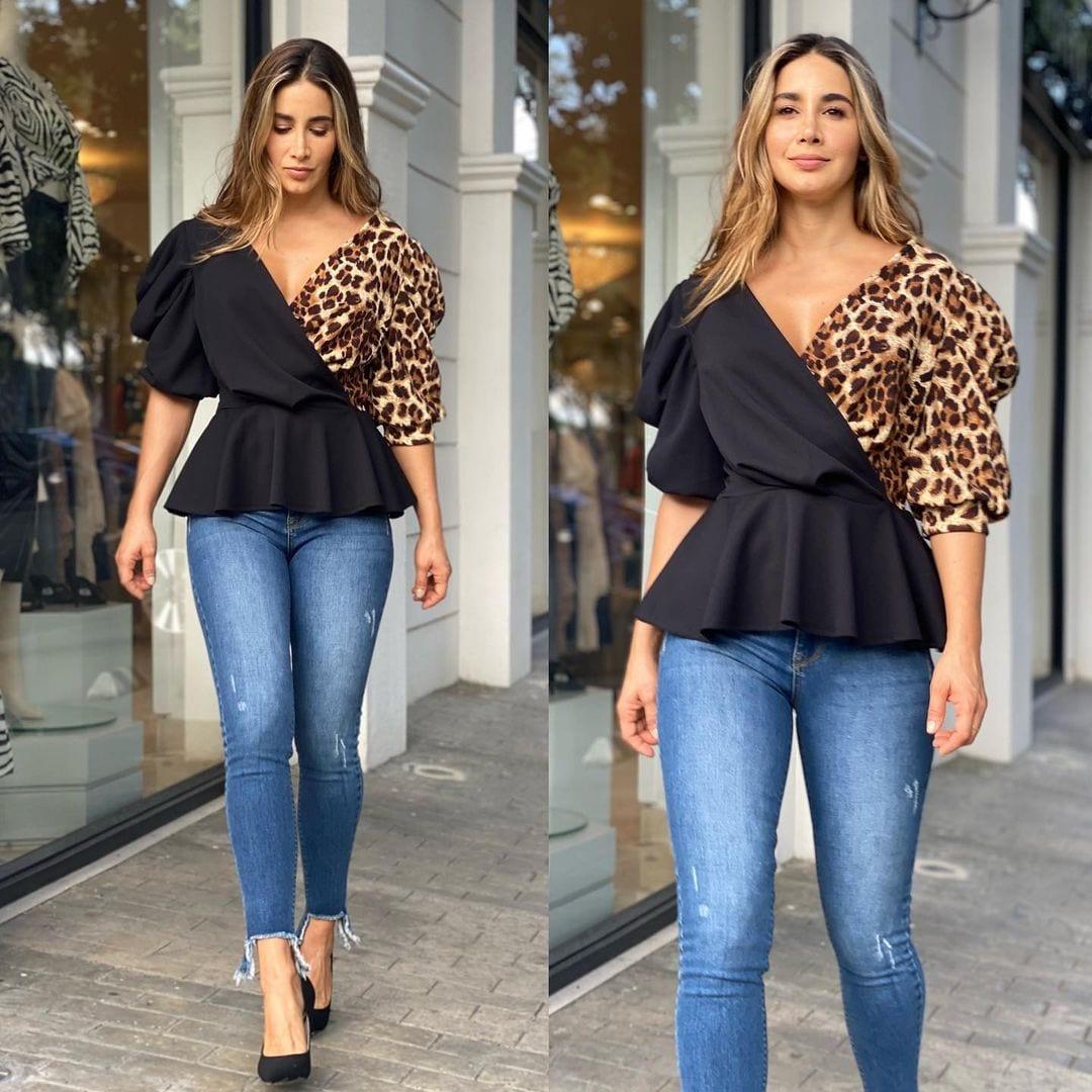 Blusas animal print para mujeres maduras