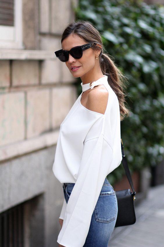 Blusas asimétricas para mujeres con espalda ancha
