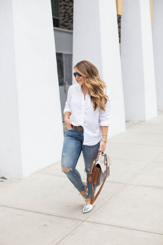 Blusas blancas para mujeres gorditas