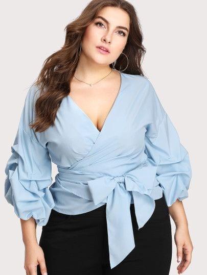 Blusas cruzadas para mujeres gorditas