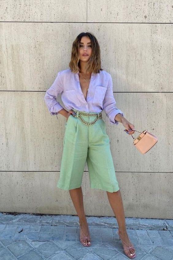 Como combinar prendas en tonos pastel