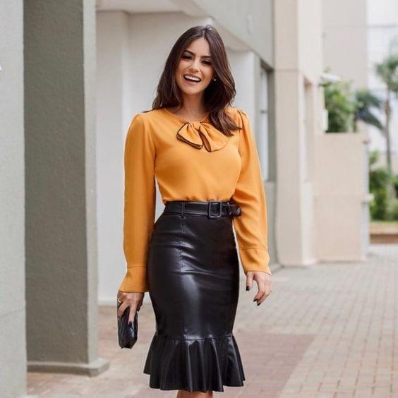 Diseños de faldas con olanes