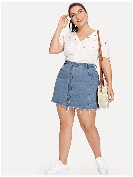 Diseños de faldas para chicas plus size