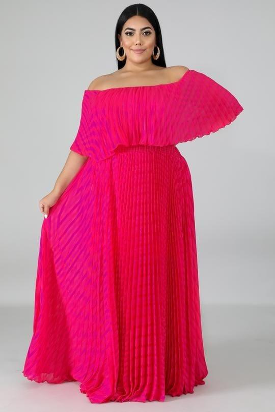Diseños de maxi vestidos para gorditas