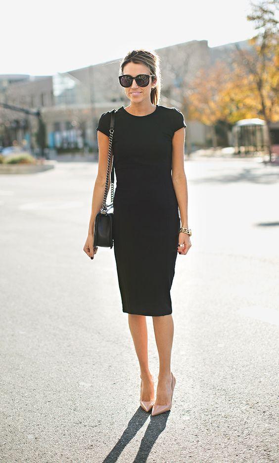 Diseños de vestidos estilo lápiz elegantes