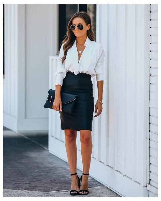 Faldas corte lápiz para verte más estilizada