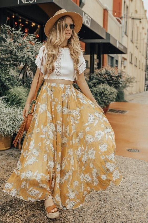 Faldas largas tendencia primavera - verano