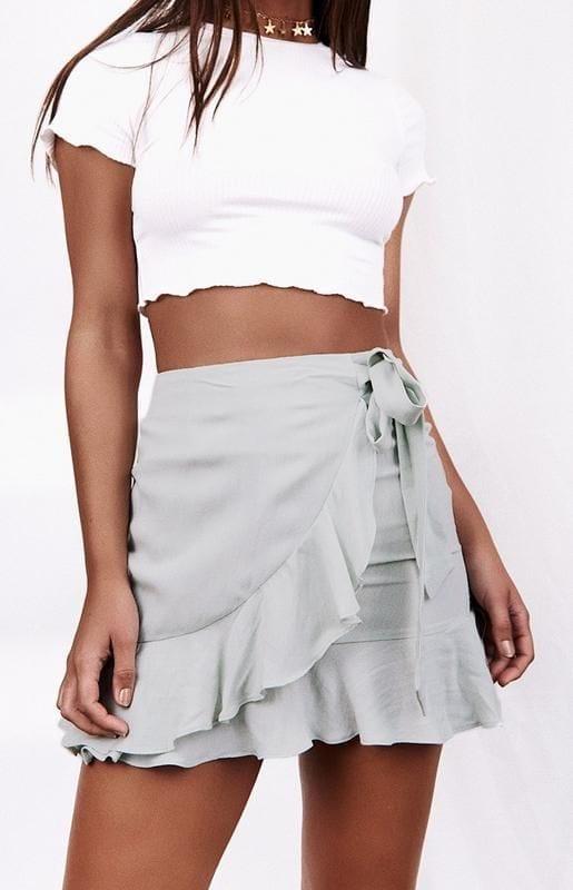 Ideas de faldas cruzadas para mujeres de 40