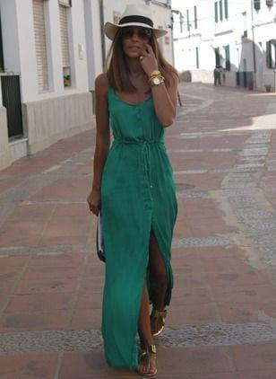 Ideas de looks con maxi vestidos casuales