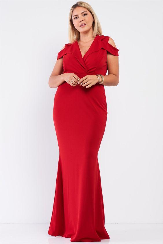 Ideas de vestidos elegantes color rojo