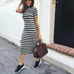 Ideas de vestidos estilo lápiz con tenis