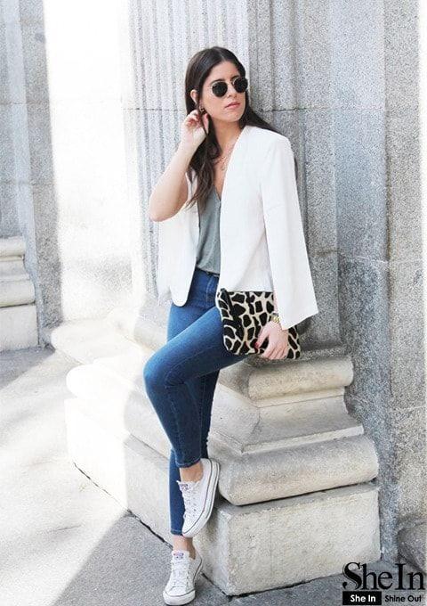 Looks casuales con cape blazers