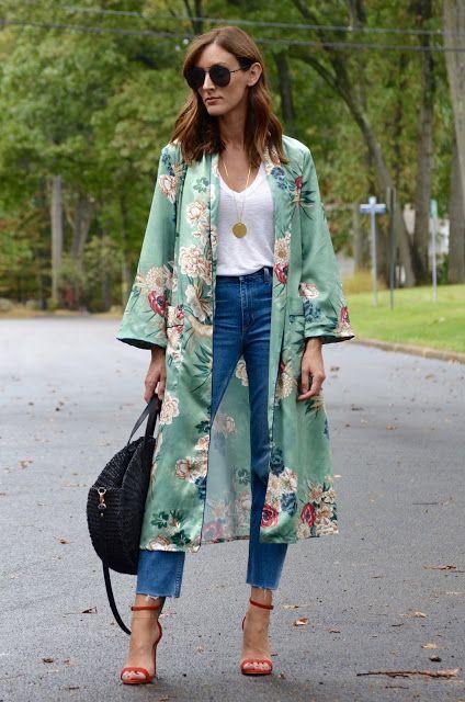 Looks con kimono y tacones