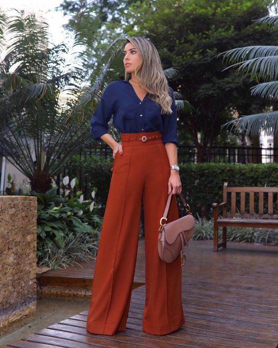 Looks con pantalones palazzo