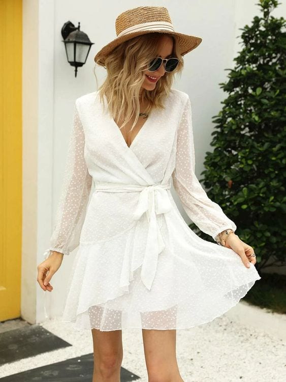 Looks con wrap dress shein